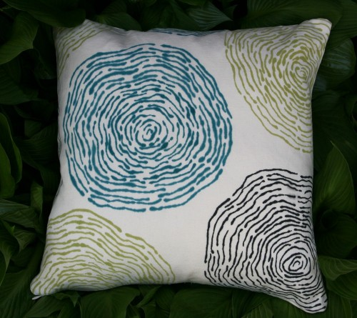Water Ripple Hand Printed Cushion Cover