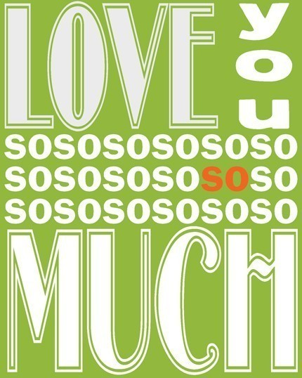 Ferntree Studio - Love you Soooo Much Print