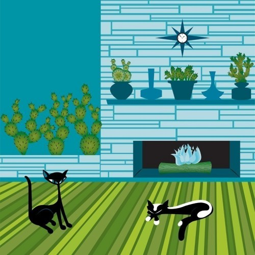 Cactus Cats Limited Edition Print