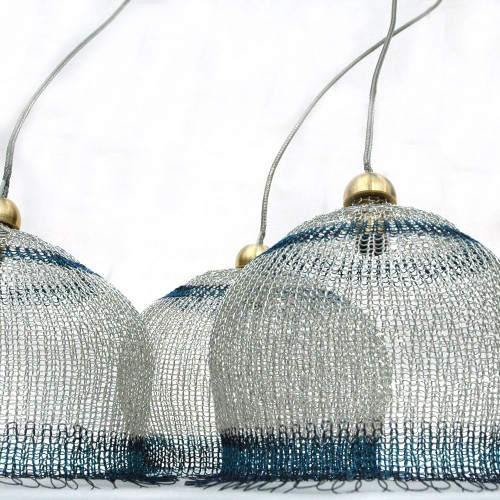 Icy wire handmade lampshade