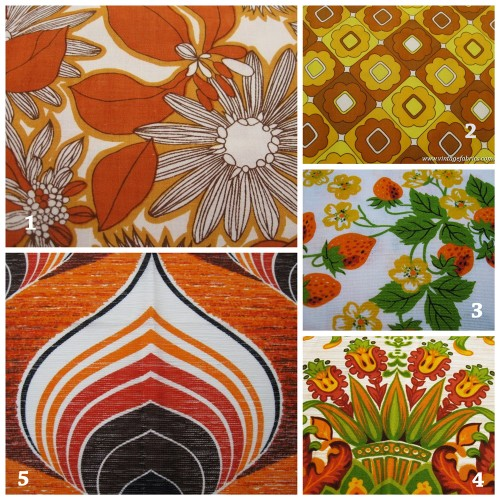 Vintage fabric from Retro Age Vintage Fabrics
