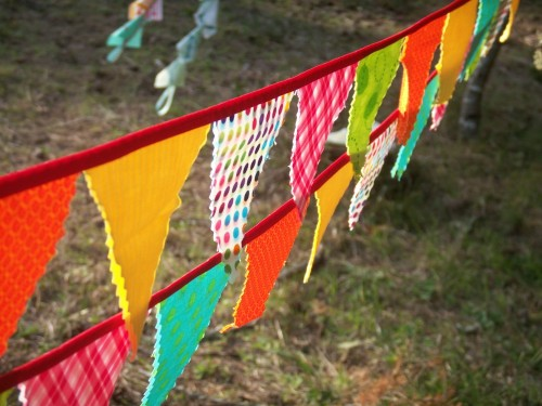 Mini bunting whimsical circus
