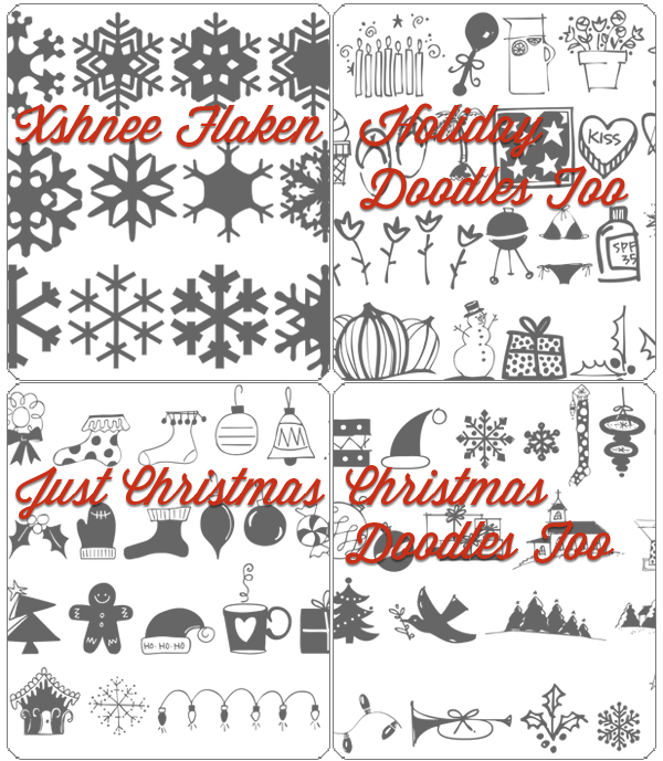Christmas picture font collection