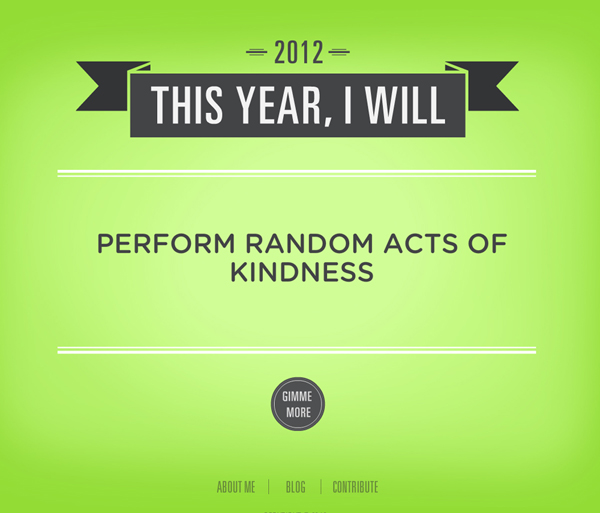 Resolution - Perfom Random Acts of Kindness