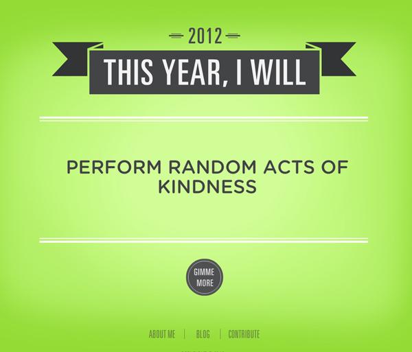 Resolution - Perfom Random Acts of Kindness