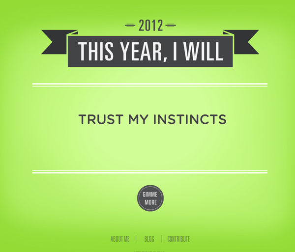 Resolution - Trust My Instincts