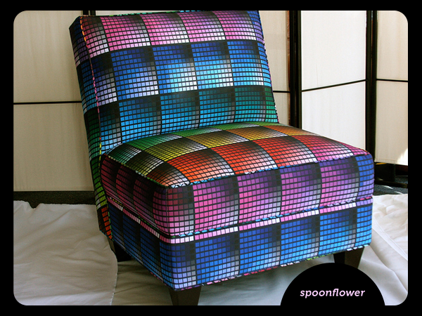 Colour swatch chair