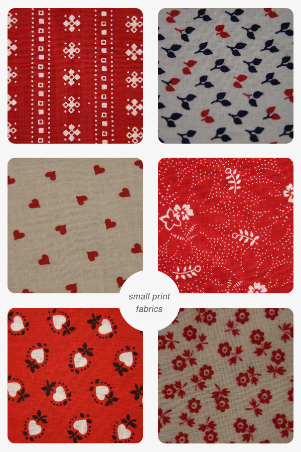 Collection of small print fabrics