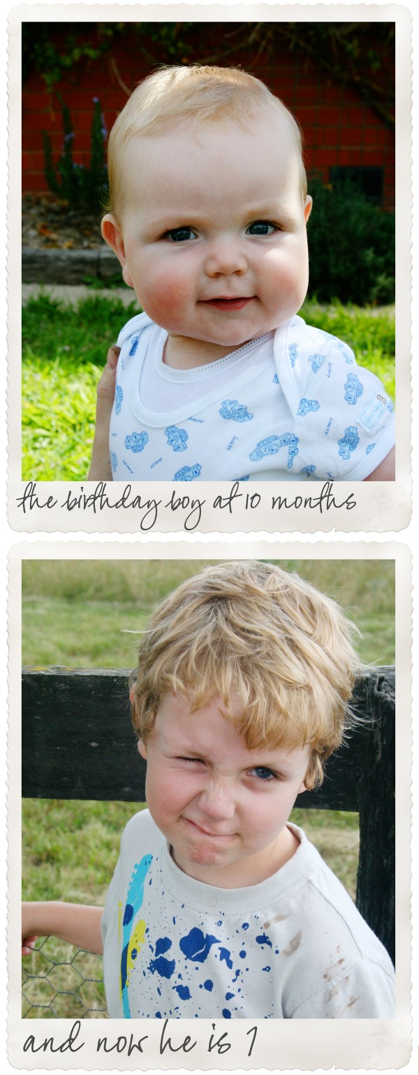 Boy at 10 months and at 7