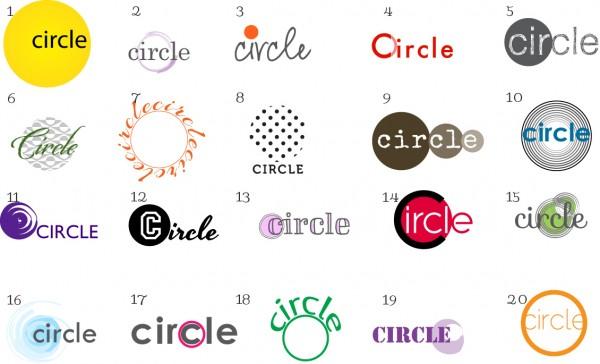 20 circle logos and text