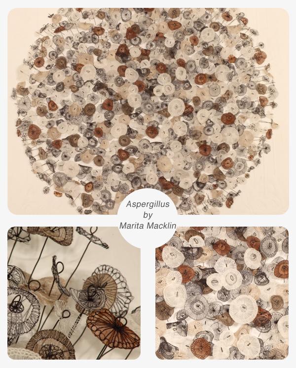 Lace sculpture by Marita Macklin