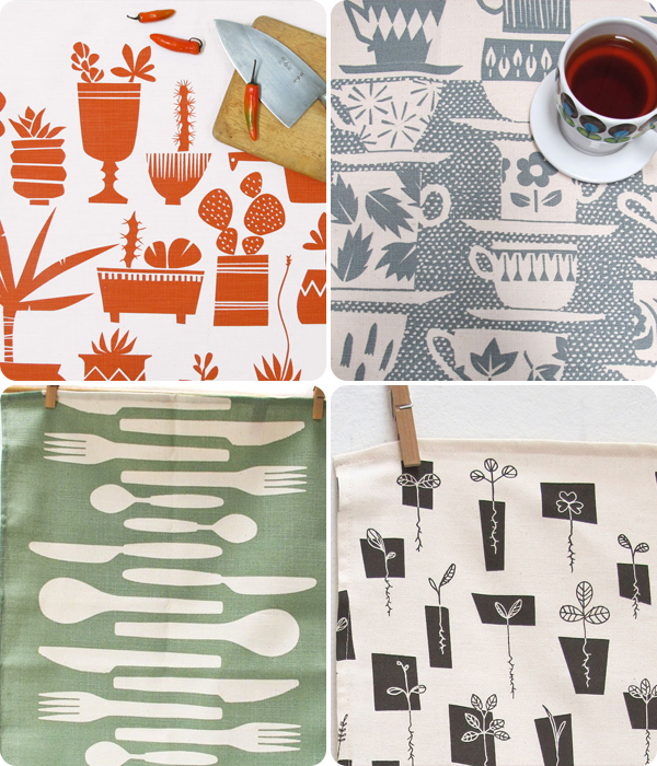 Tea towel designs from Skinny laMinx