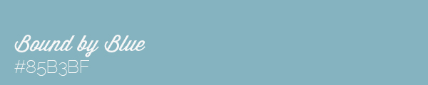 Colour swatch #85B3BF