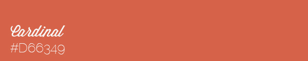 Colour swatch #D66349