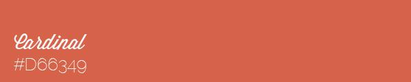 Colour swatch #D66349