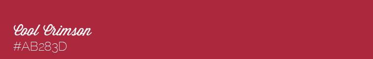 Colour swatch #AB283D