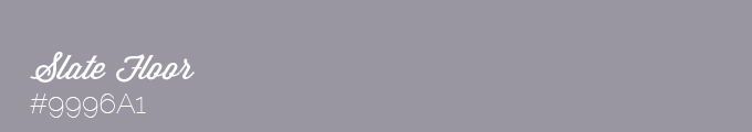 Colour swatch #9996A1