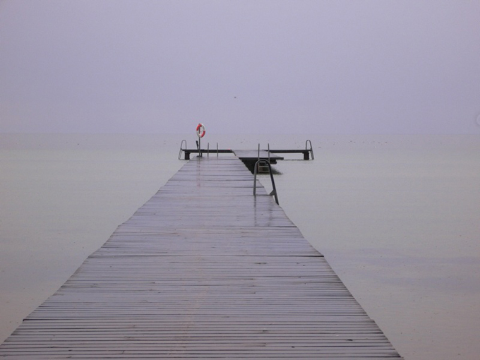 Jetty on a grey day