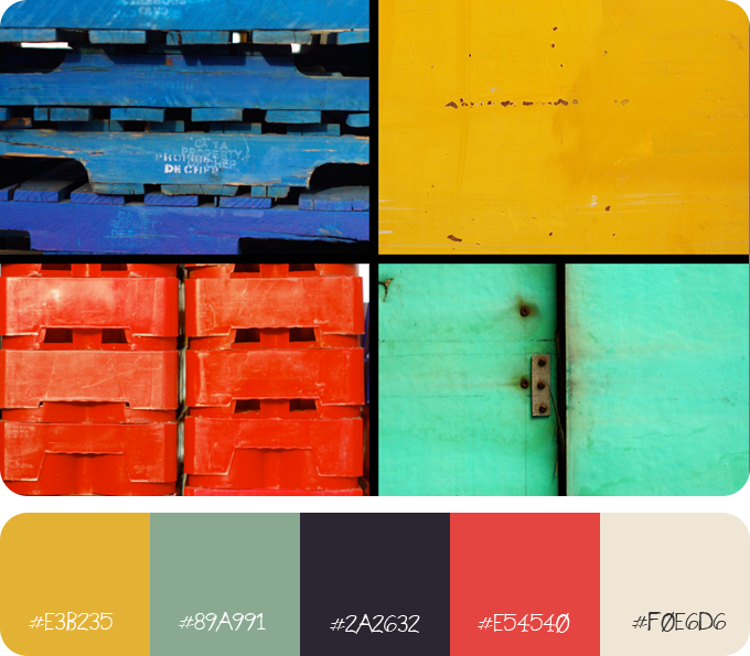 Image and 5 colour palette
