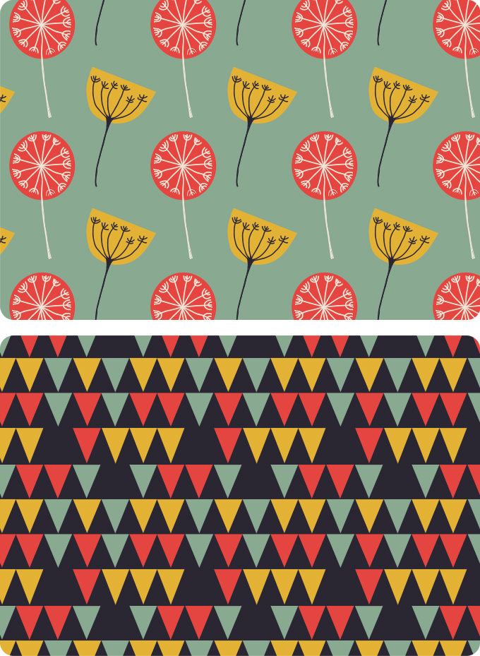 Image of floral and geometric patterns