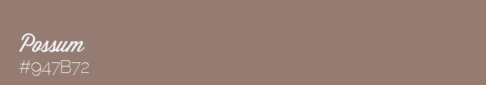 Colour swatch 947B72
