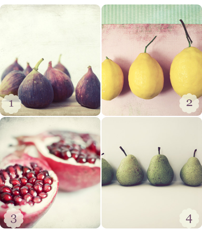 4 images of fruit by Lupen Grainne