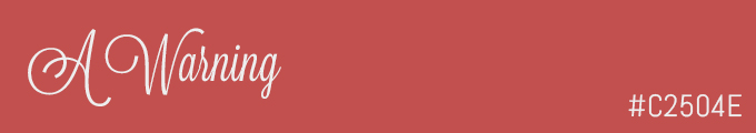 Colour swatch #C2504E