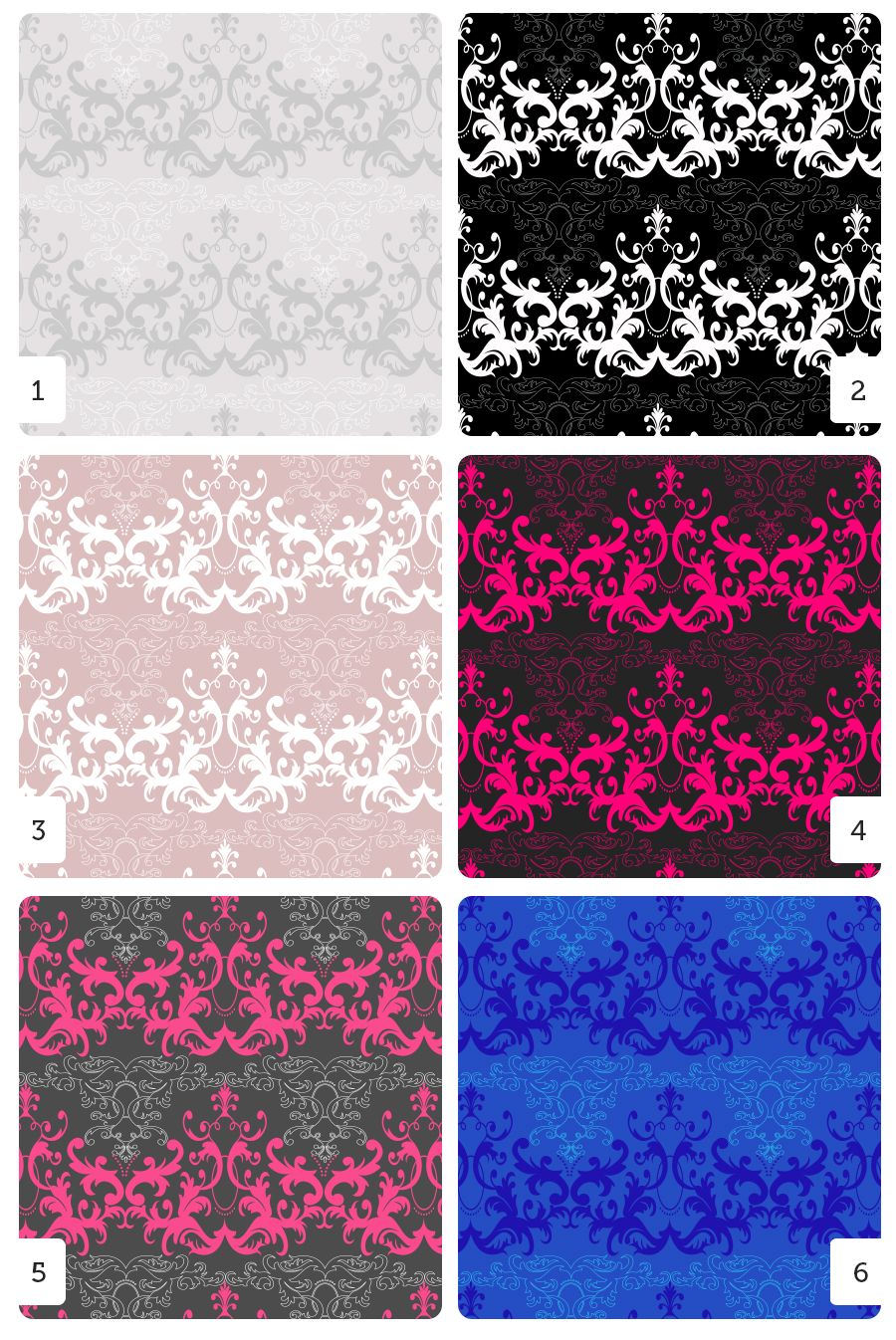 6 different patterns based on my Chandelier pattern