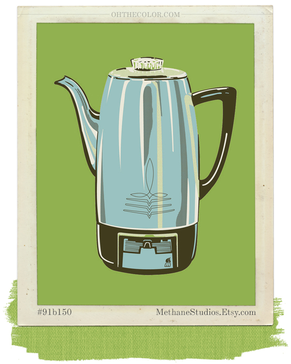Coffee pot art print