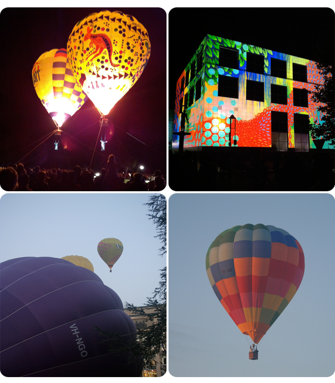 Balloons and lights from Canberra Day celebrations