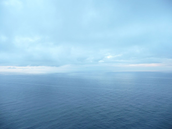 Horizon showing sea and sky