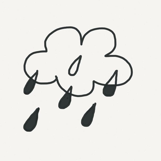 Rain cloud motif