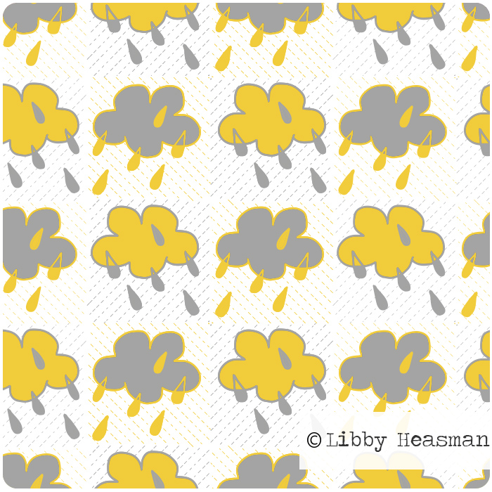 Pattern swatch called sunshine rain
