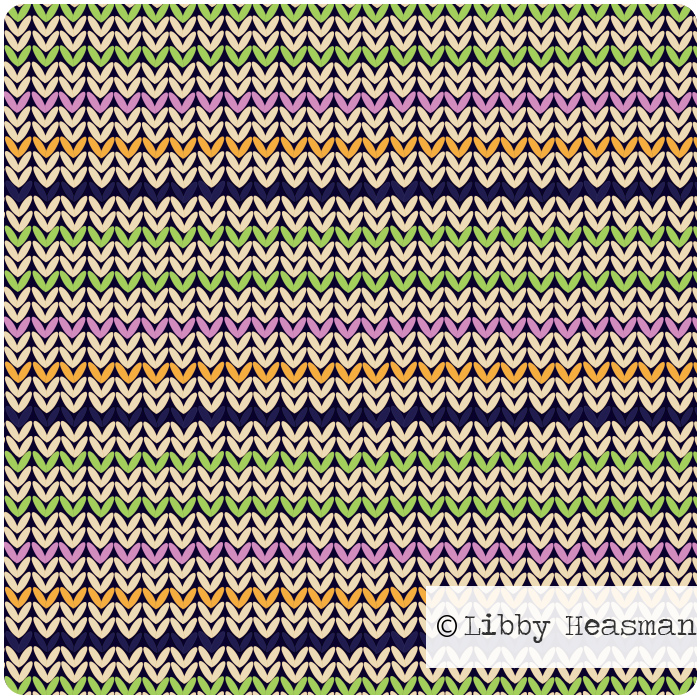 Digital pattern inspired by knitting