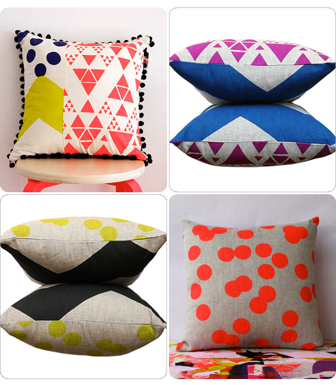 4 cushions from the print society store