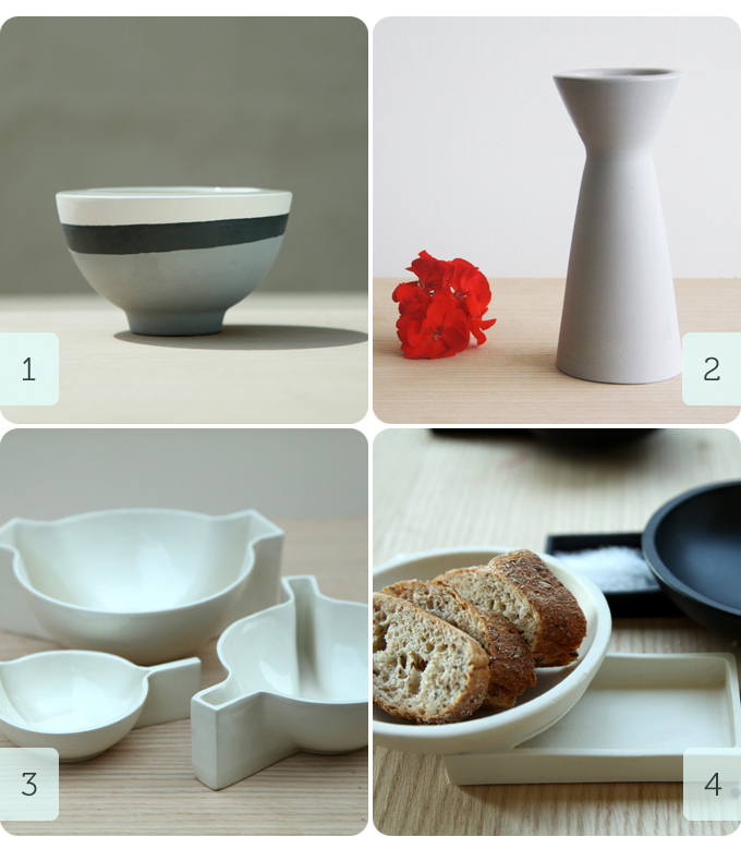4 products from ONEandMANY ceramic design on Etsy