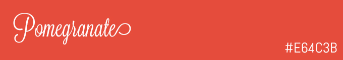 Colour swatch #E64C3B
