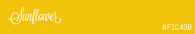 colour swatch #F1C40B