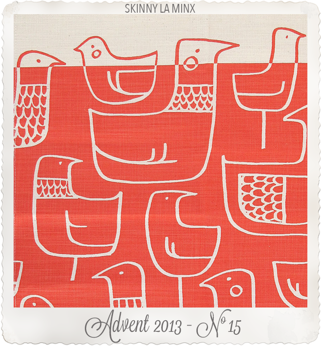 Tea towel Eep in Kettle Red by skinny la minx