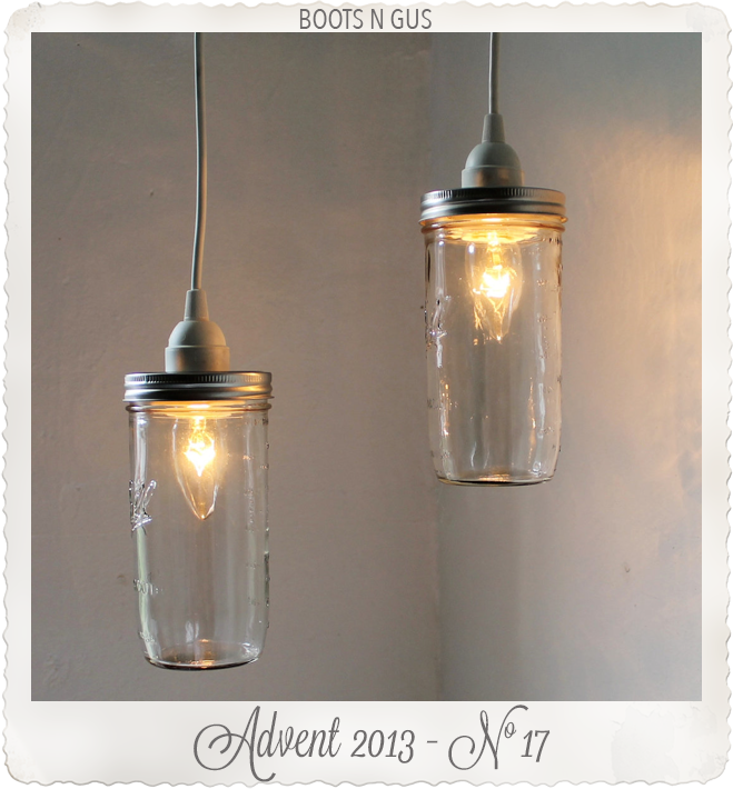Stargaze Set of 2 hanging Mason jar pendant lights by Boots N Gus