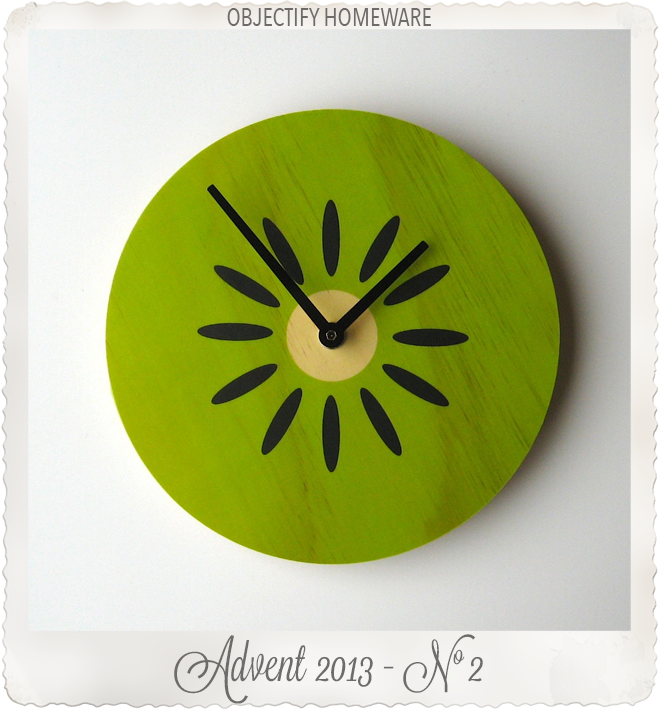 Kiwi clock by Objectify Homeware