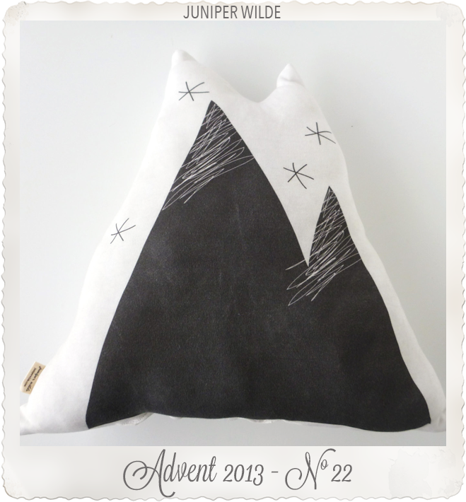 ORGANIC Mountain Pillow Black & White by juniper wilde