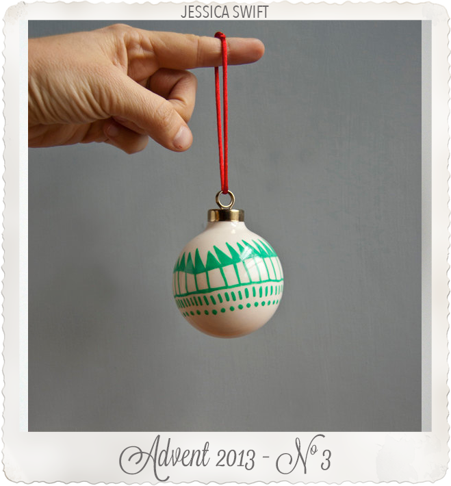 One of a kind Christmas ornament by Jessica Swift