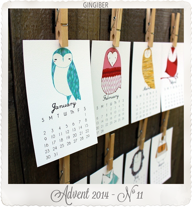 Owls desk calendar by Gingiber