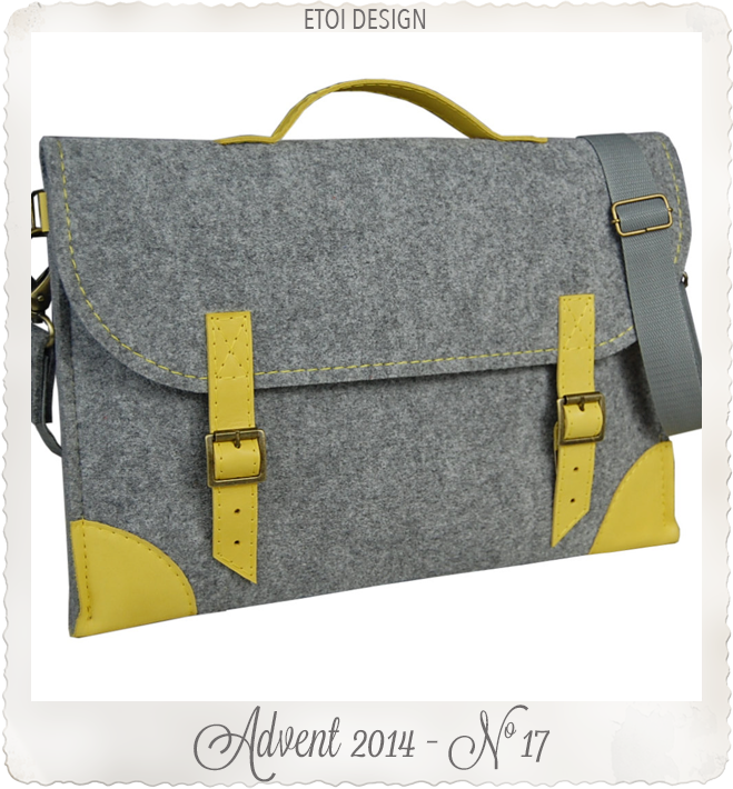 Felt Laptop bag 13 inch with pocket sleeve macbook by etoi design