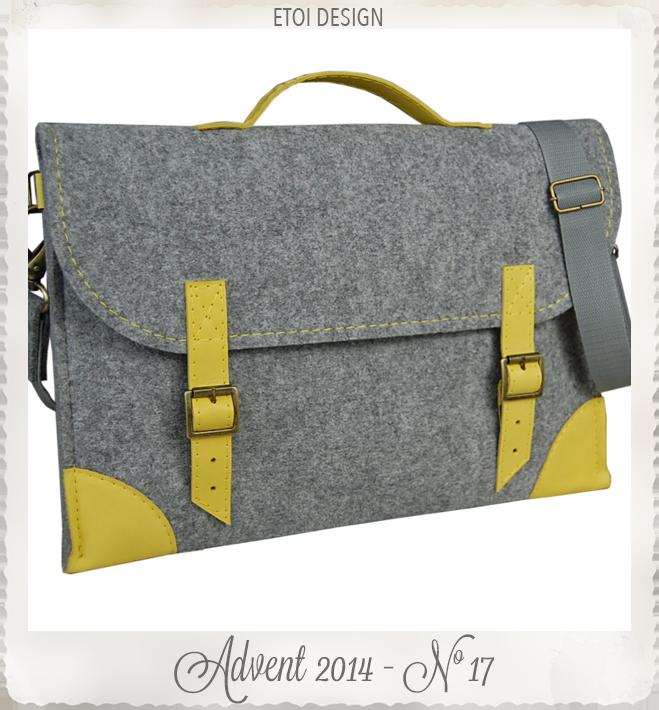 Felt Laptop bag 13 inch with pocket sleeve macbook by etoi design
