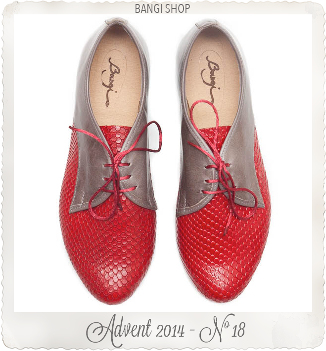 Red Leather Shoes by Bangi Shop