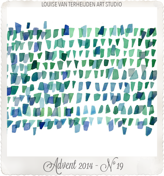 Sea glass painting print giclee watercolor by Louise Art Studio