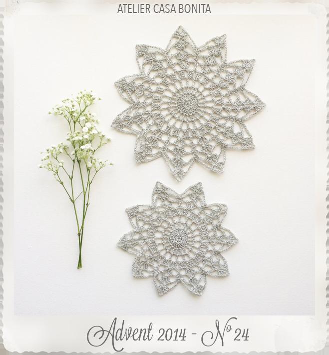 Silver Crocheted Doilies Set of 2 Handmade by Atelier Casa Bonita