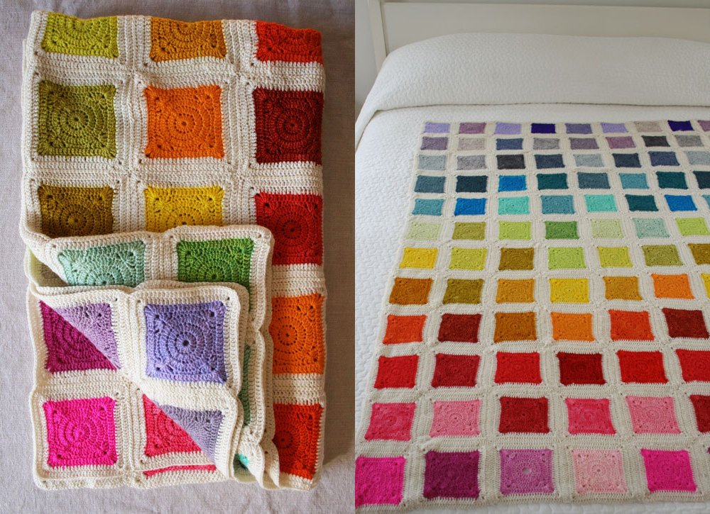 Crochet blanket from Purl Bee